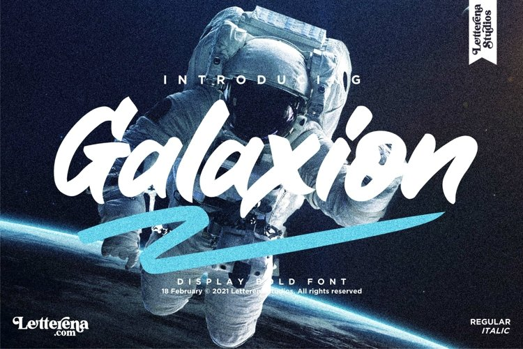 Galaxion - Strong Display Font example image 1