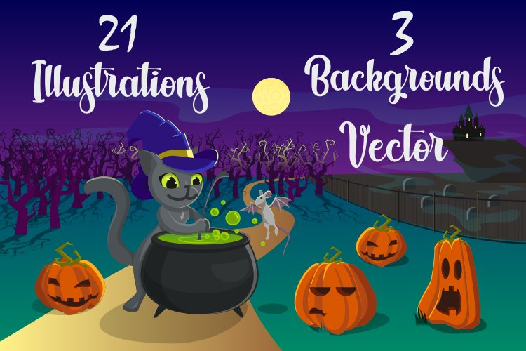 Vector illustrations for Halloween