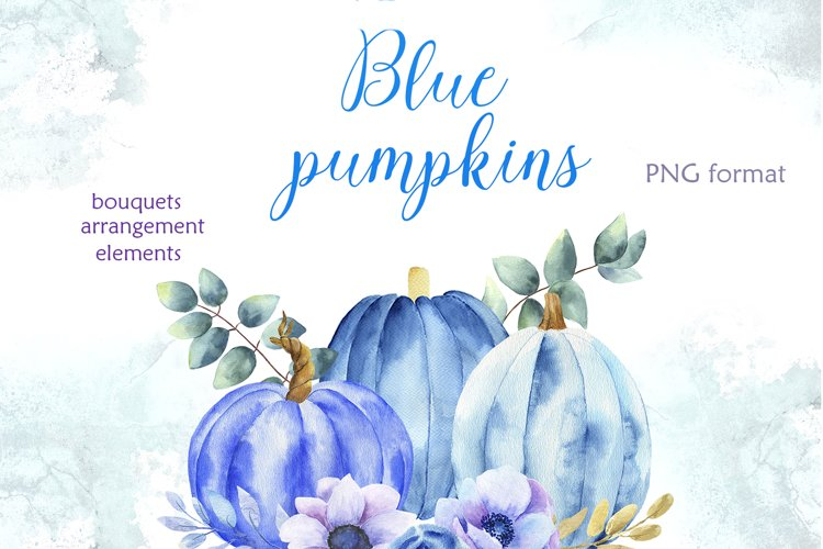Blue pumpkins example image 1