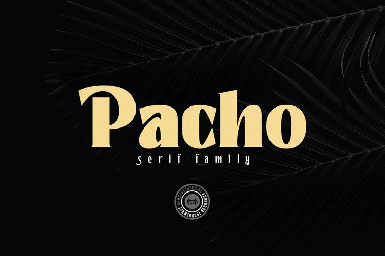 Pacho - Serif Family example image 1