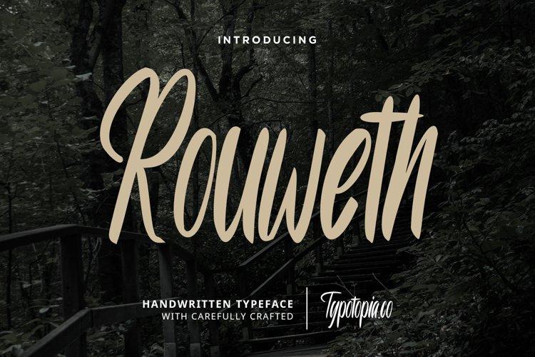Rouweth Handwritten Typeface example image 1