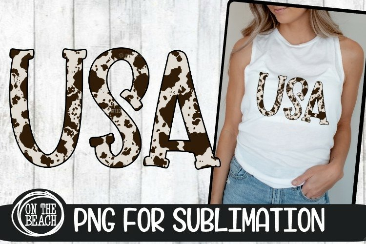 USA - Cowhide - 300 DPI PNG Sublimation