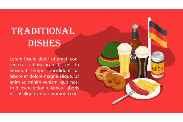 October fest beer drink menu banner isometric. example image 1