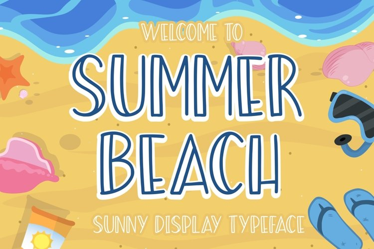 Summer Beach Sunny Display Typeface example image 1