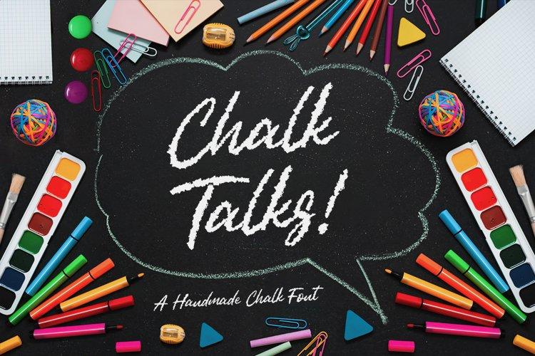 Chalk Talks - Chalk Script Font example image 1