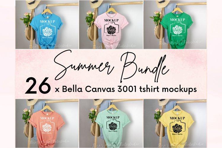 Bella Canvas 3001 Mockup Bundle - Tshirt Mockup Bundle example image 1