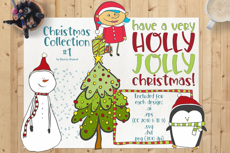 Christmas Collection 1 - Vector/SVG example image 1