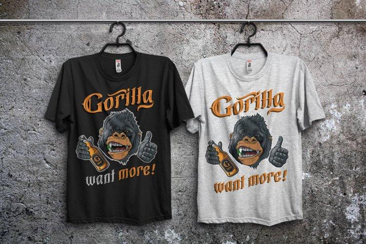 Gorilla beer - gothic typeface example 4
