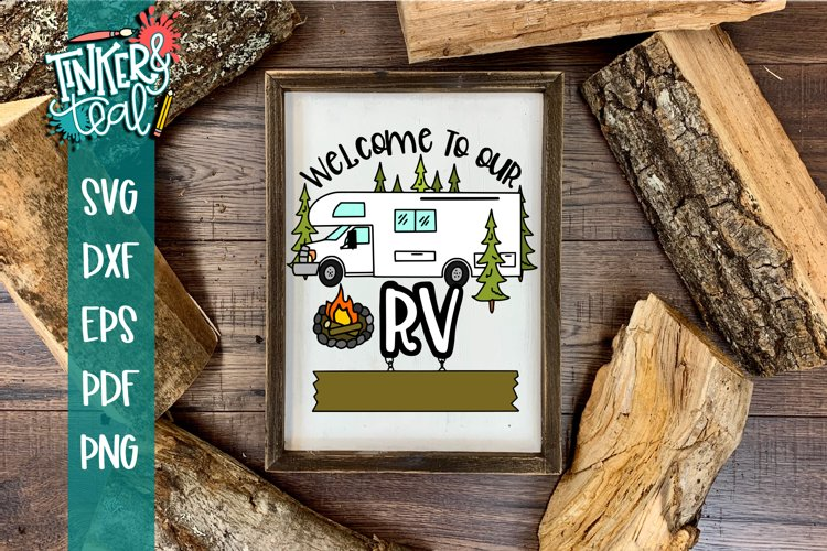 Custom Welcome To Our Campsite SVG example image 1