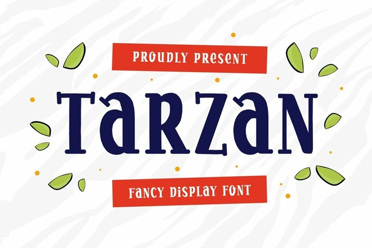 Web Font Tarzan - Display Font example image 1