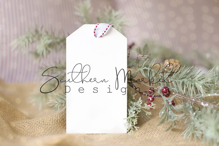 Wood Tag Ornament Christmas Mock Up Styled Photography