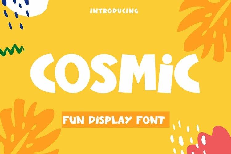 Web Font Cosmic - Fun Display Font example image 1