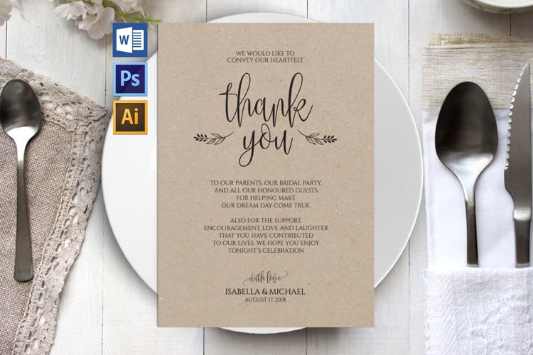 Thanks wedding sign, TOS_47 example image 1