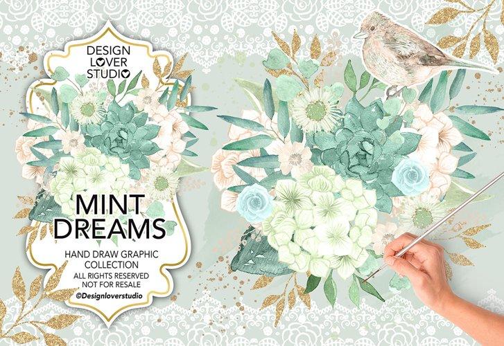Watercolor MINT DREAMS design example image 1