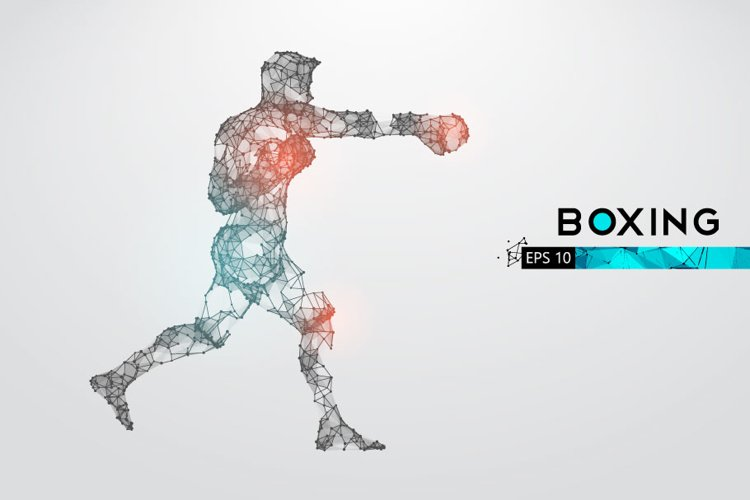 Silhouettes of a boxer, man, AI, EPS, PNG