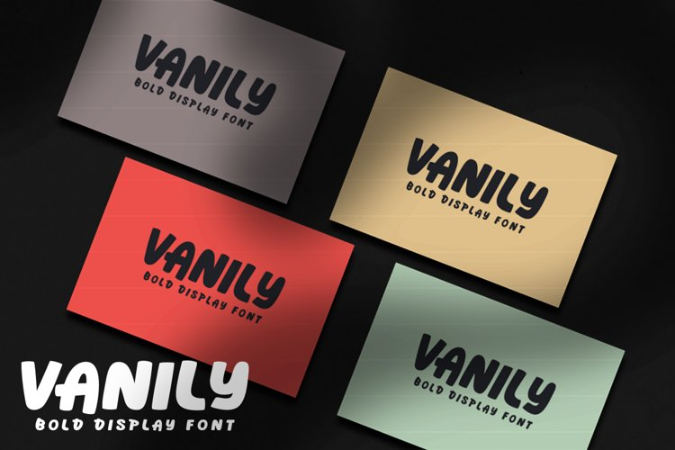 Vanily Display Font example image 1