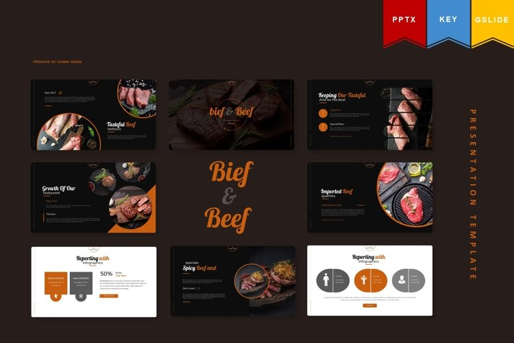 Bief And Beef | Powerpoint, Keynote, GoogleSlides Template example image 1