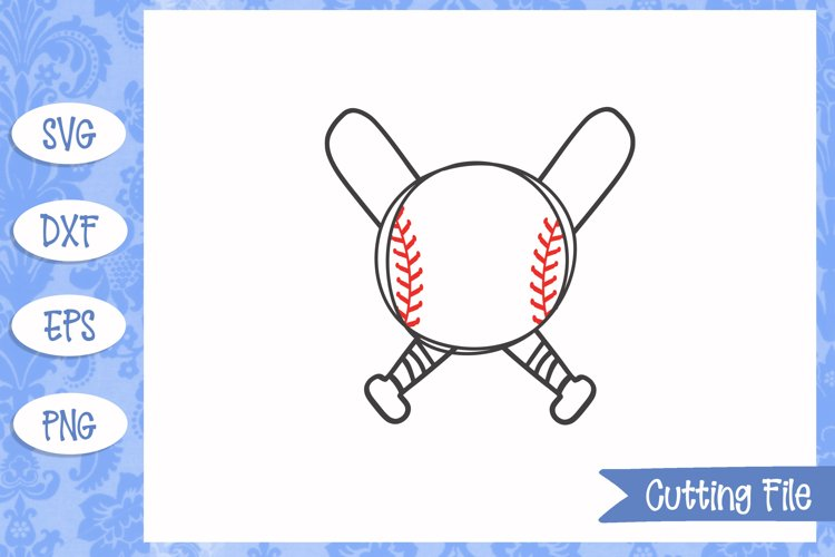 Baseball Monogram, Baseball SVG File example image 1