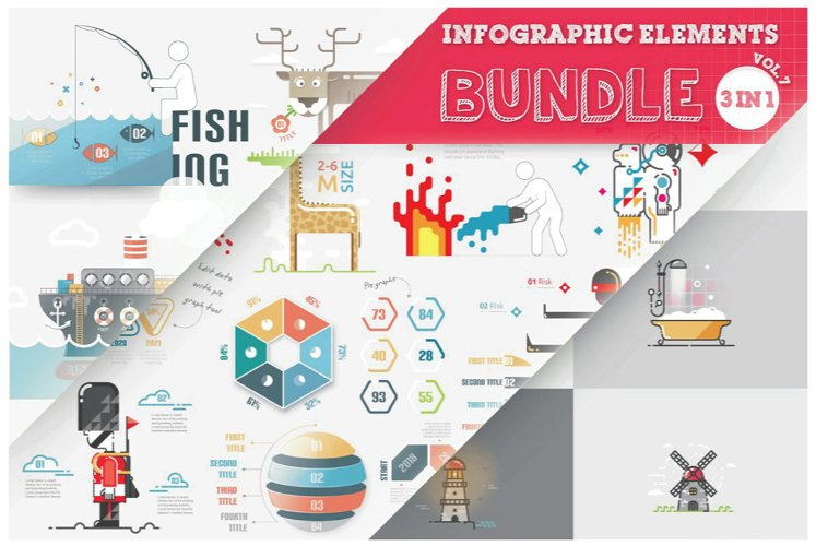 Infographic Elements Bundle (3 in 1) main