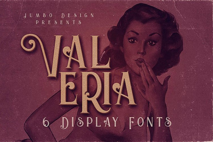 Valeria - Display Font example image 1