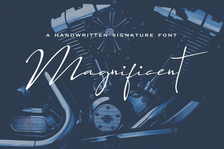 Magnificent Font   example image 1