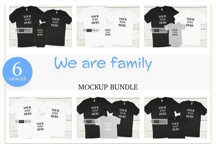 Family Mockup Bundle   Bella Canvas Mockups   6 Images