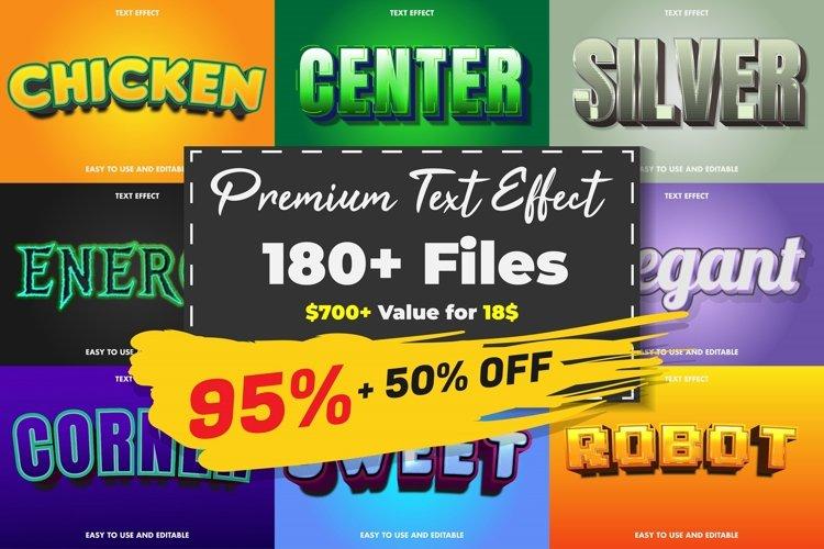 Premium text effect - Big bundle example image 1