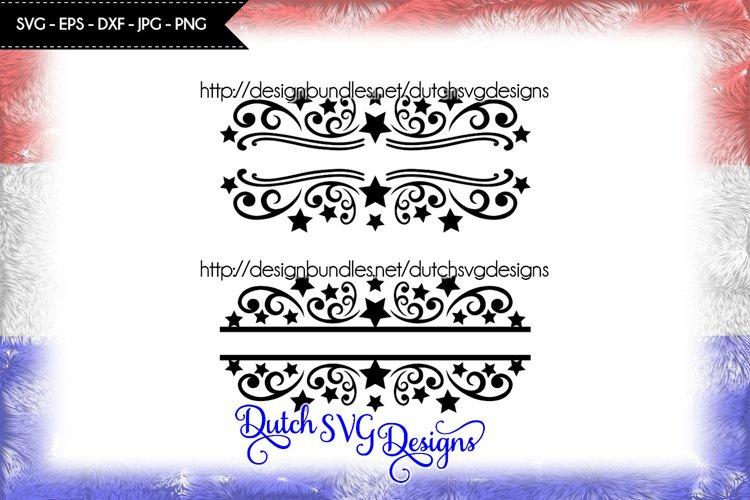 2 Split monogram cutting files, christmas svg, monogram svg example image 1