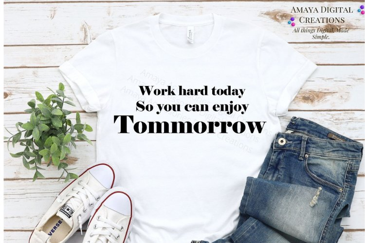 Work Hard SVG, Instant Download example image 1