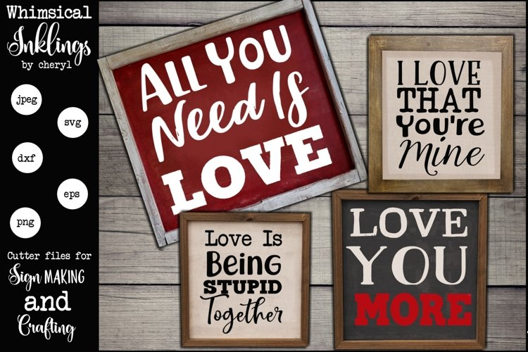 Love You More SVG Set example image 1