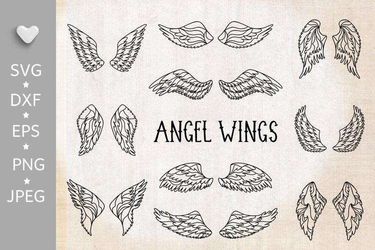 Wings bundle svg. Angel wings clipart. Fairy wings cut files example image 1