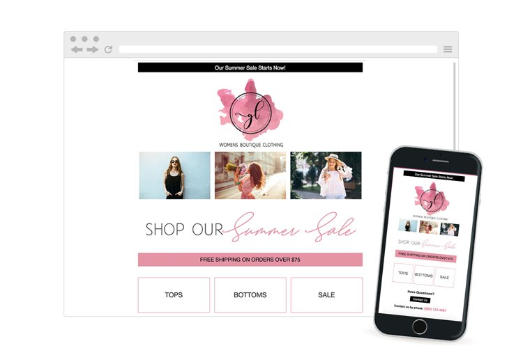 Sale Marketing Customer Newsletter Responsive Email Template