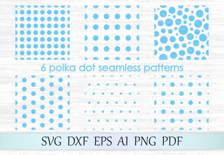 Polka dot seamless pattern, Polka dot pattern svg, Polka dot example image 1