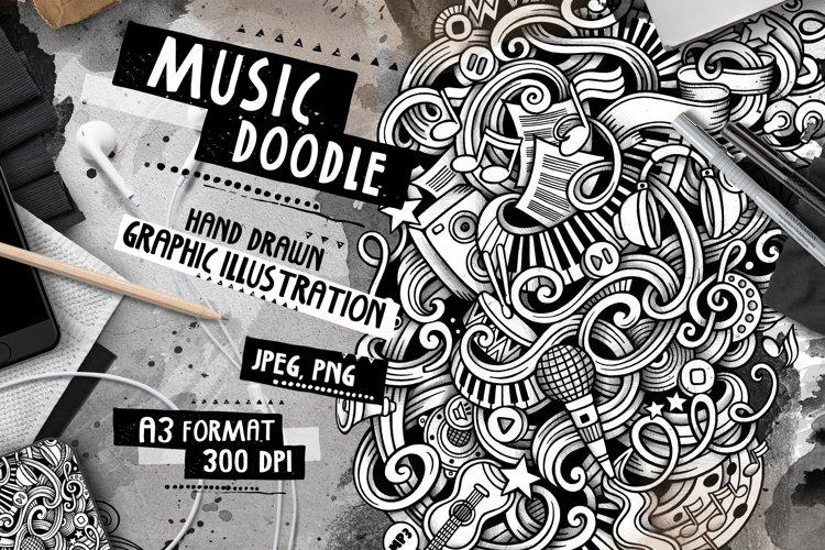 Music Graphic Doodle Hand Drawn Illustration