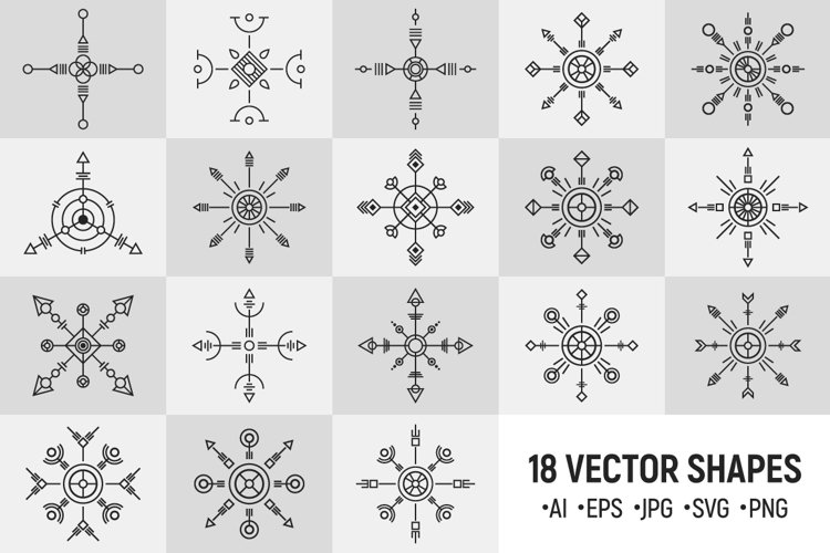 18 abstract geometric vector symbols example image 1