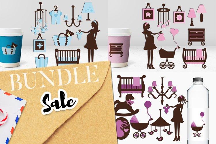Pregnancy, maternity, nursery clip art bundle