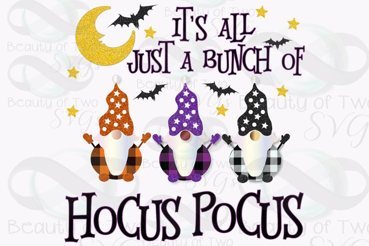 Hocus Pocus Gnomes Plaid Sublimation Design png 300 dpi