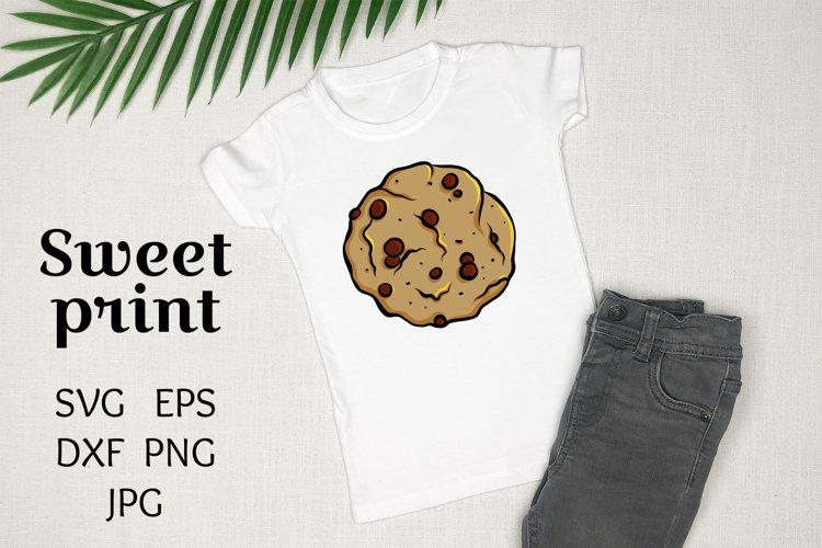 Chocolate cookie SVG sweet print