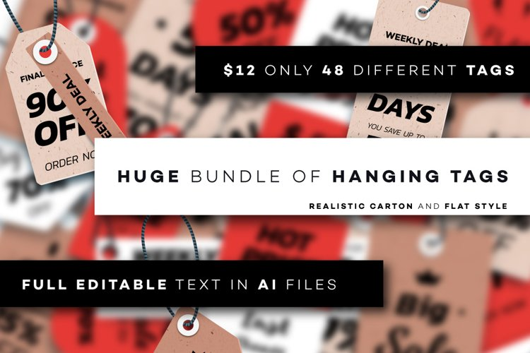 Realistic Vector Hanging Tags Collection