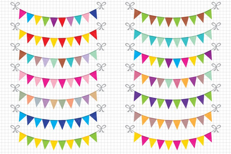 Bunting Banners Clipart / Party Bunting, Banner Clipart example image 1