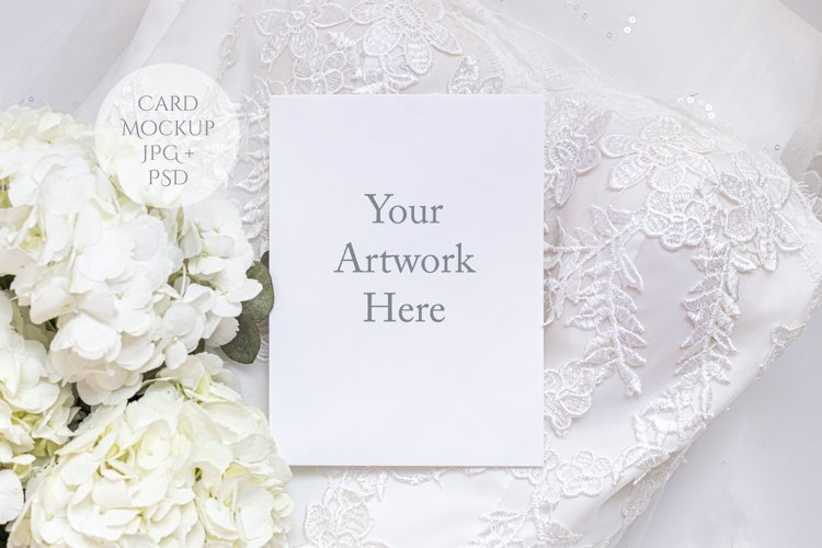 Card Mockup wedding theme example image 1