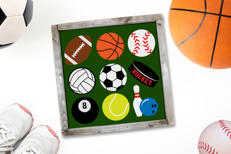 Sports Ball Set SVG File