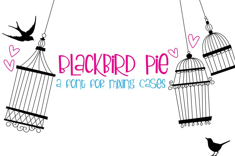 ZP Blackbird Pie - Free Font of The Week Font