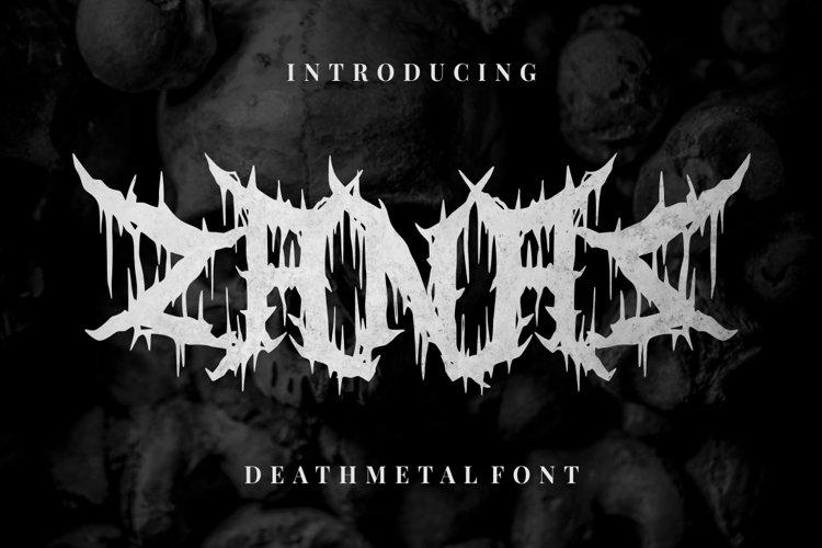 Zanaz - Deathmetal Font example image 1