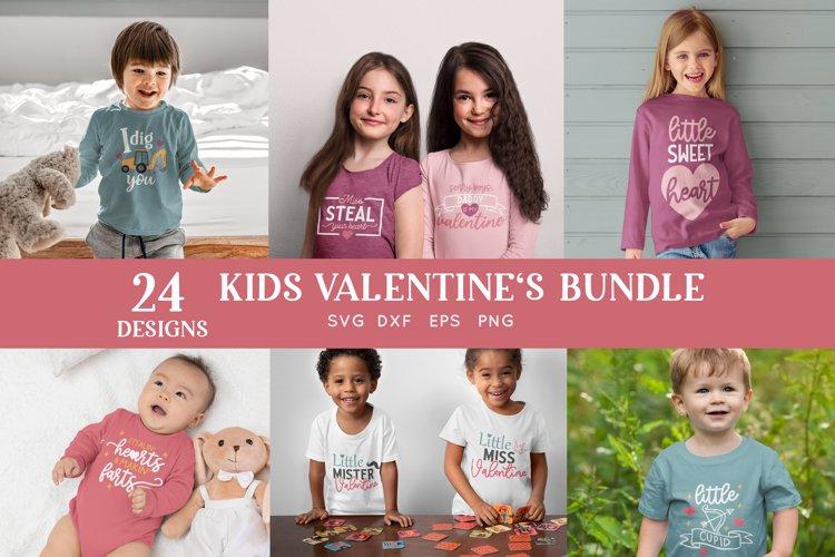 24 Kids Valentines svg bundle - kids valentines day shirt example image 1