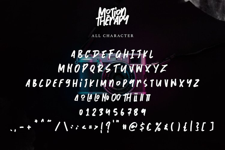 Motion Therapy | Handwritten Brush Font example 1