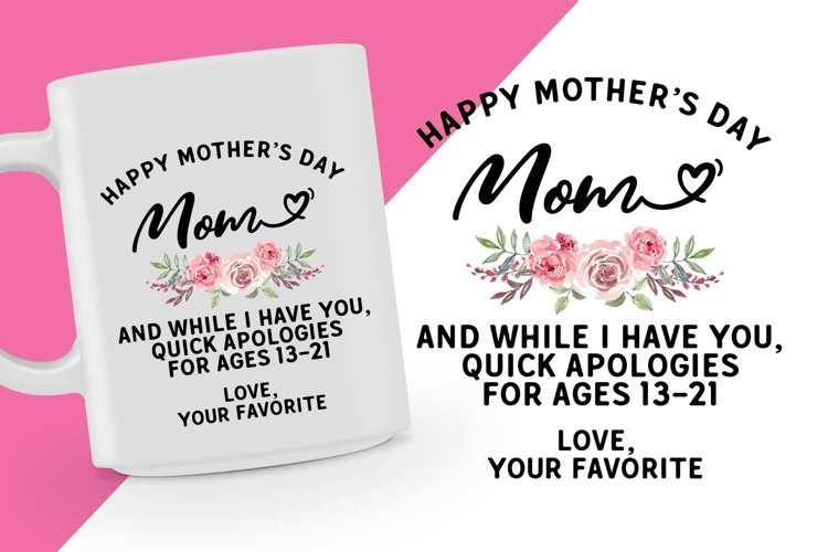 Happy Mothers Day Printable example image 1