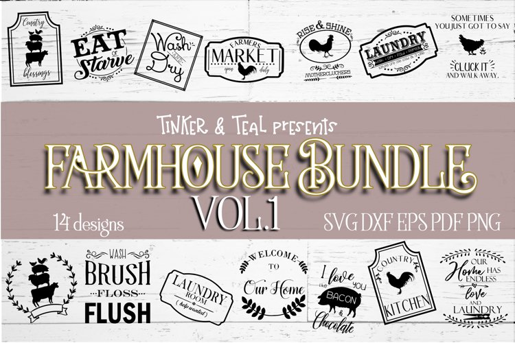 Farmhouse SVG bundle - farmhouse cut files