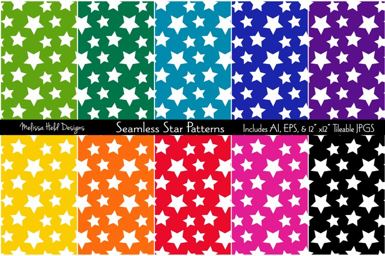Seamless Star Patterns example image 1