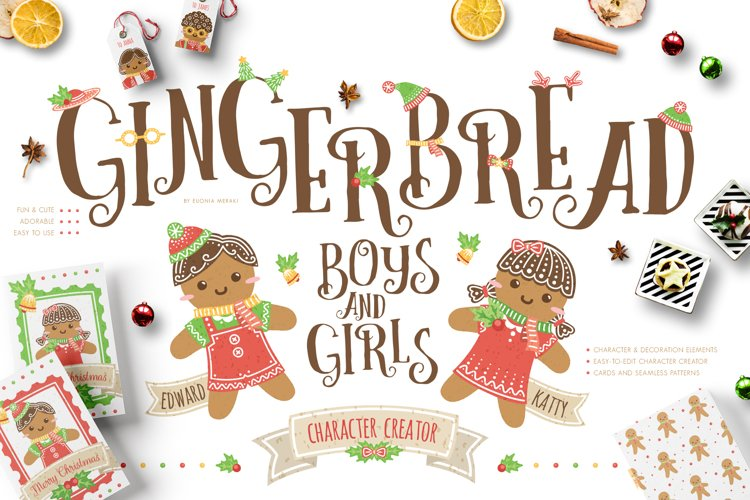 Gingerbread Boys and Girls - Christmas Character Creator